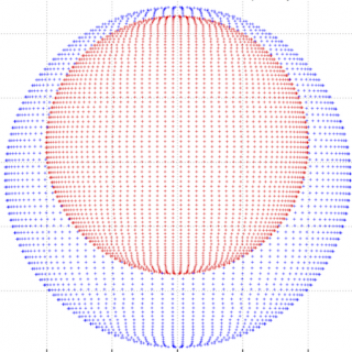 Outreach image, model of eclipsing binary