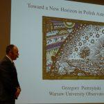 Grzegorz Pietrzyński giving a talk