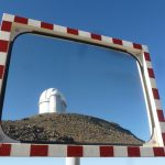 Reflection of the 3.6m reflector, La Silla, Chile
