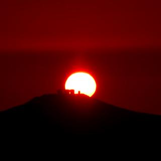 Sunset behind Paranal, viewed from OCA