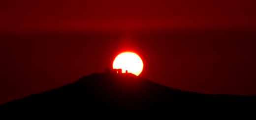 Sunset behind Paranal, viewed from OCA