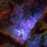 Eta Carina Nebula (NGC 3372), false color RGB image (H-α, O-III, S-II), created with Vysos 6 telescope. Credit: Universitätssternwarte Bochum